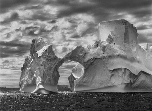 Sebastião Salgado. Iceberg between Paulet Island and the South Shetland Islands on the Weddell Sea. Antarctic Peninsula, 2005. © Sebastião Salgado/Amazonas Images/nbpictures