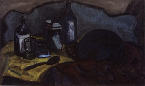 Milton Avery. <em>Still Life with Spoon</em> c.1929, oil on board, 18 x 30 in.
