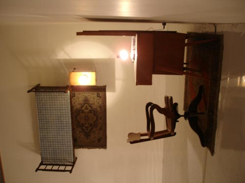 Jaroslaw Kozlowski, 1945 - born in Srem, lives and works in Poznan. Installation <em>Gravity Room</em>. Montage using second-hand furniture bought in S&atilde;o Paulo.