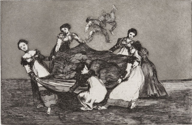 Francisco de Goya. Disparate volante (Feminine Folly), 1815-1824. Series: Los Proverbios (The Follies). Etching and Aquatint. © Museum der Moderne Salzburg. Photograph: Rainer Iglar.