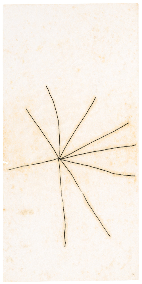 Mira Schendel. Untitled (from the series Crosses and Vertices/Cruzes e Vértices), c1964–65. © Mira Schendel Estate. Courtesy Mira Schendel Estate and Hauser & Wirth. Photograph: Genevieve Hanson.