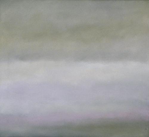 Jon Schueler. <em>Sleat: Winter Blues, III</em>, Romasaig 1974. 29 x 32 inches (o/c 426). (C) Jon Schueler Estate.