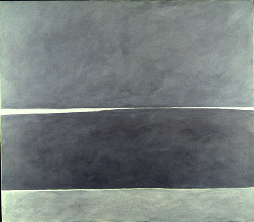 Jon Schueler. <em>The Sound of Sleat, June Night, XIII</em>, Mallaig 1957. 52 x 60 inches (o/c 50). (C) Jon Schueler Estate.