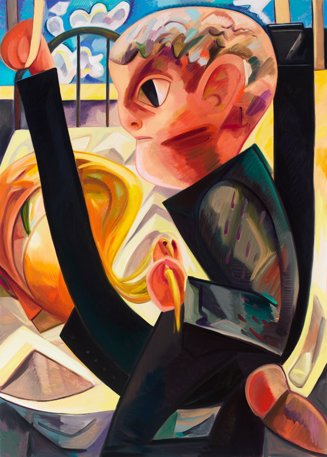 Dana Schutz. Horsey Situation, 2015. Oil on canvas, 66 x 47.25 in (167.6 x 120 cm).