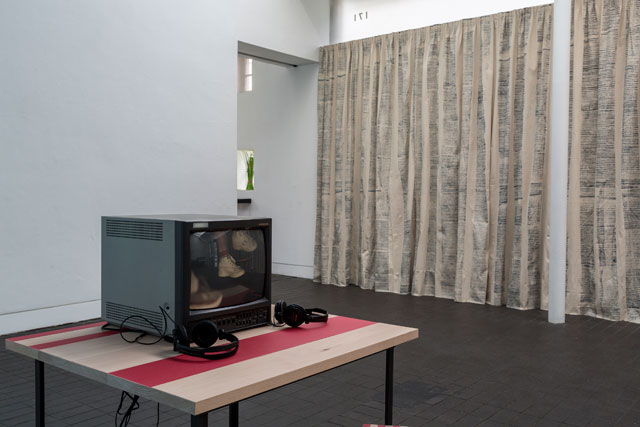 Katie Schwab, Covers, HD video and hand-scratched 16mm film converted to SD, monitor,