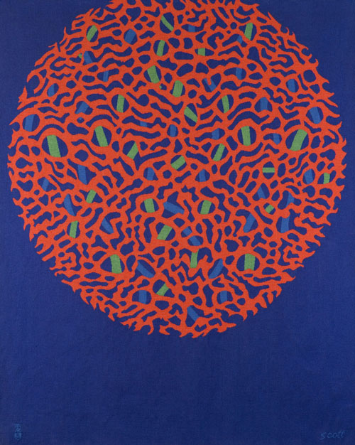 Patrick Scott. Device, 1971. Aubusson tapestry, woven by Tabard Frères et Souers, Aubusson, France, 148.6 x 120.6 cm. Collection Irish Museum of Modern Art, Heritage Gift, Heritage Gift, P.J. Carroll & Co. Ltd. Art Collection, 2005.