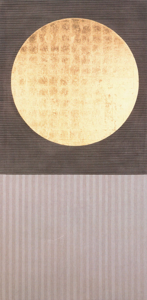 Patrick Scott. Gold Painting 12/94, 1994. Gold leaf and tempera on unprimed canvas, 244 x 122 cm. Private Collection.