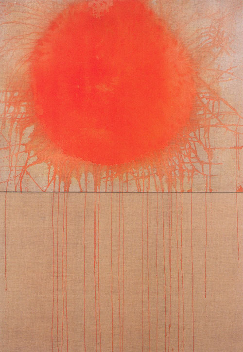 Patrick Scott. Large Solar Device, 1964. Tempera on unprimed canvas, 234 x 153 cm. Collection Dublin City Gallery The Hugh Lane.