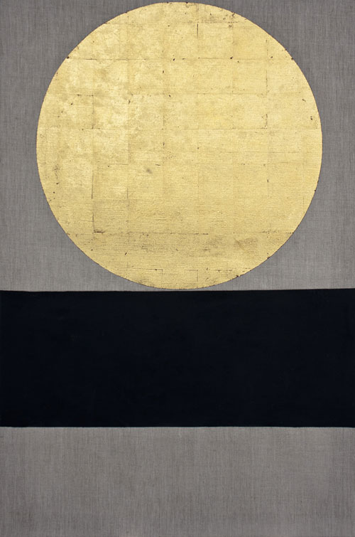 Patrick Scott. Meditation Painting 28, 2006. Gold leaf and acrylic on unprimed canvas, 122 x 81 cm. Collection Irish Museum of Modern Art. Donation the artist, 2013.