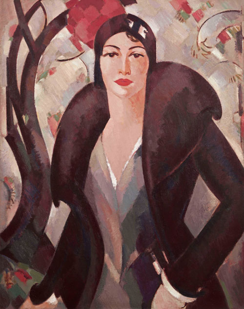 JD Fergusson. Grace McColl, 1930. Oil on canvas, 91.5 x 73.7 cm. Private collection, courtesy The Richard Green Gallery, London.