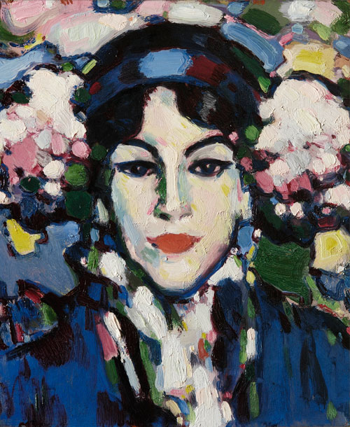 JD Fergusson. Hortensia, 1907. Oil on canvas, 43 x 38 cm. The University of Aberdeen - bequeathed by Eric Linklater, 1976.