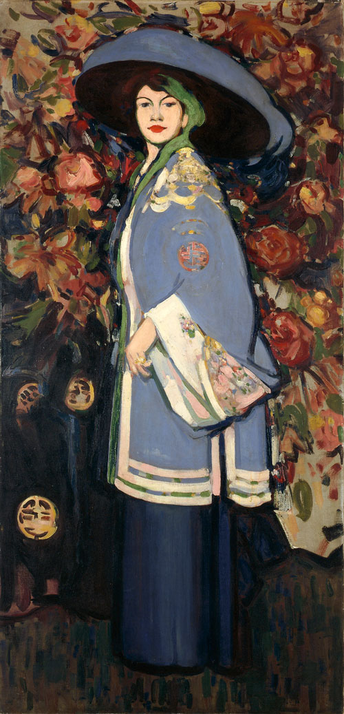 JD Fergusson. Le Manteau Chinois, 1909. Oil on canvas, 199.5 x 97 cm. The Fergusson Gallery, Perth & Kinross Council - presented by the JD Fergusson Art Foundation 1991.