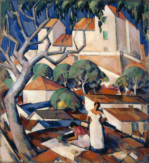 JD Fergusson. Christmas Time in the South of France, 1922. Oil on canvas, 61 x 55.8 cm. The Fergusson Gallery, Perth & Kinross Council - purchased with the assistance of the Heritage Lottery Fund 1998.