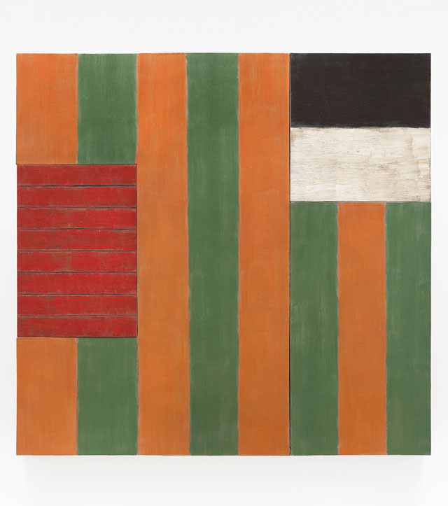 Sean Scully. A Green Place, 1987. Oil on linen, 84 x 86 1/2 x 5 1/4 in (213.4 x