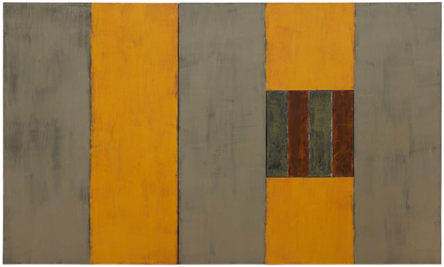 Sean Scully. Summer, 1987. Oil on linen, 60 x 96 in (152.4 x 243.8 cm). Image courtesy Mnuchin Gallery, New York. © Sean Scully. Photograph: Foto Gasull.