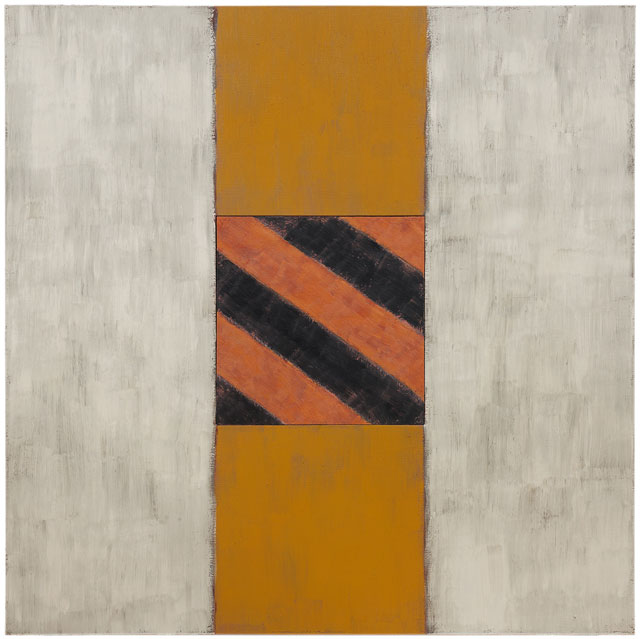 Sean Scully. White Light, 1988. Oil on linen, 72 x 72 in (182.9 x 182.9 cm) Image courtesy Mnuchin Gallery, New York. © Sean Scully. Photograph: Foto Gasull.
