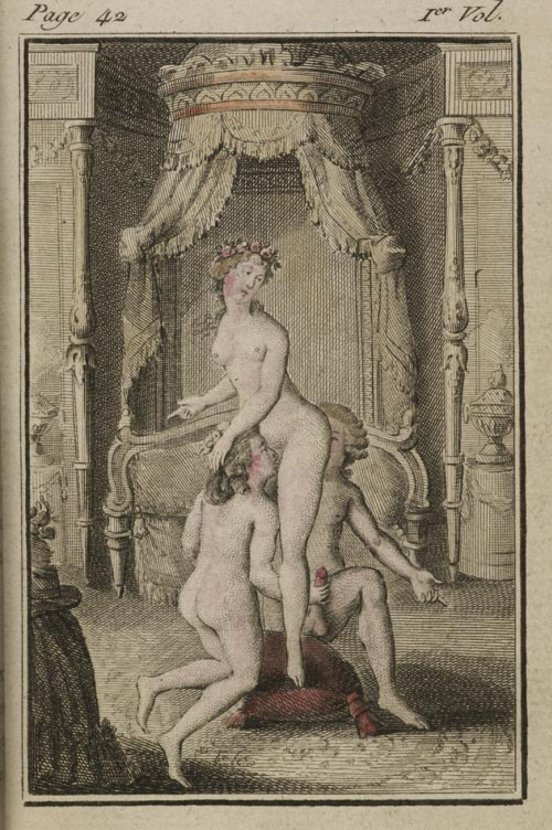 Unknown artist, <em>Illustration for La Philosophie dans le boudoir by Marquis de Sade</em>, London, 1795. The British Library, London