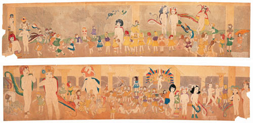 (double-sided). 144 At Jennie Richee. Waiting for the blinding rain to stop./145 At Jennie Richee. Hard pressed