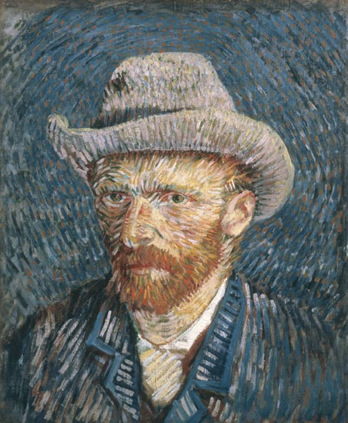 Vincent van Gogh. Self-portrait with Felt Hat, 1888. Copyright: © Van Gogh Museum Amsterdam (Vincent van Gogh Foundation).