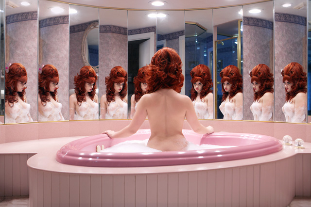 Juno Calypso. Honeymoon Suite, 2015. Archival pigment print, 52 x 102 cm. Image courtesy of the artist and TJ Boulting Gallery.