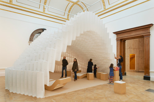 Installation by Diebedo Francis Kere. Photograph © Royal Academy of Arts, London, 2014. Photograph: James Harris.