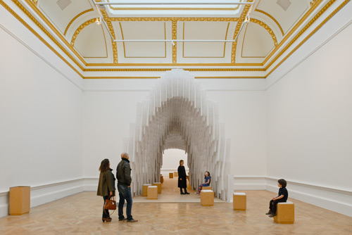 Installation by Diebedo Francis Kere (view 2). Photograph © Royal Academy of Arts, London, 2014. Photograph: James Harris / © Kere Architecture.