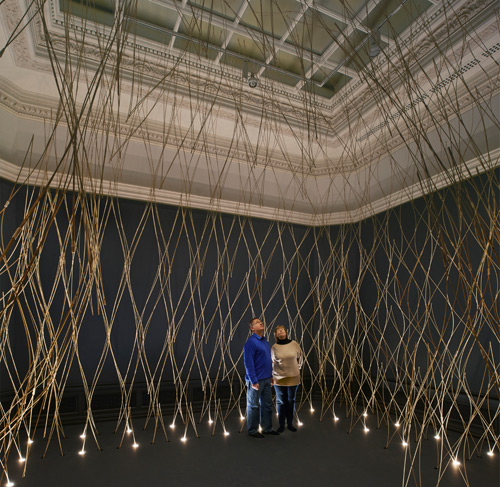 Installation by Kengo Kuma (view 2). Photograph © Royal Academy of Arts, London, 2014. Photograph: James Harris.