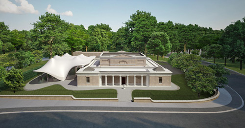 Rendering of Serpentine Sackler Gallery by
