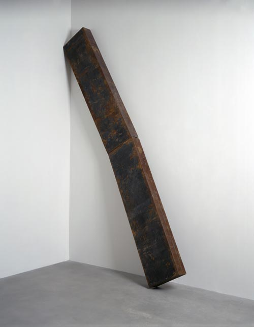 Richard Serra. <em>Back to Back</em>, 1987. Hot rolled steel, 340.4 x 216.5 x 39.4 cm. Courtesy of Gagosian Gallery © Richard Serra