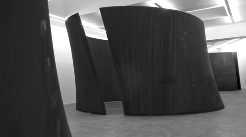 Richard Serra. <em>TTI London</em>, 2007. Weatherproof steel, two torqued toruses, 168 x 332 x 420 inches (426.7 x 843.3 x 1066.8 cm). © Richard Serra. Courtesy of Gagosian Gallery. Photo credit: Joshua White.