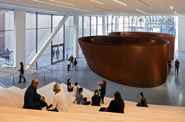 Roberts Family Gallery featuring Richard Serra's Sequence, 2006. Photograph: © Henrik Kam, courtesy SFMOMA.