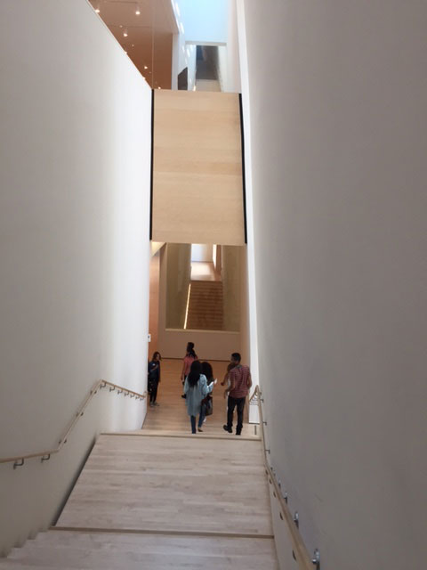 Stairway view, SFMOMA. Photograph: Jill Spalding.