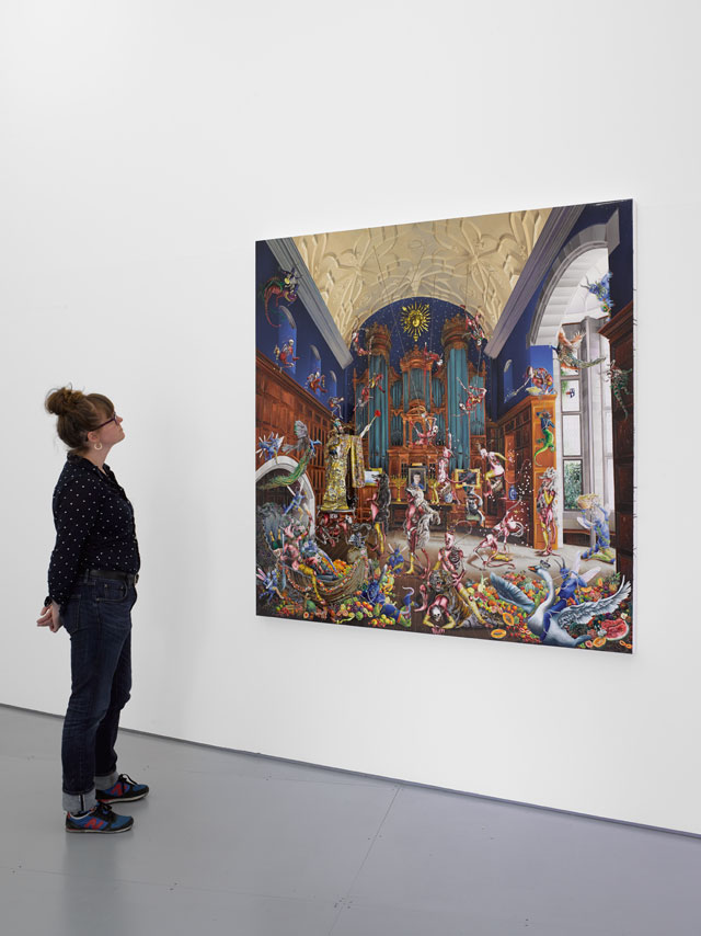 Raqib Shaw. Installation view, White Cube at Glyndebourne, East Sussex, 21 May - 28 August 2016. © Raqib Shaw. Photograph: © White Cube (George Darrell).