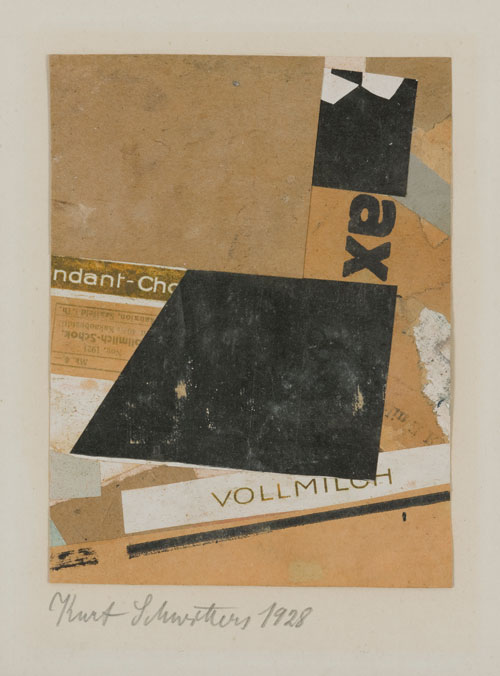 Kurt Schwitters. Vollmich (Whole milk), 1928. Collage on paper. Marzona Collection.