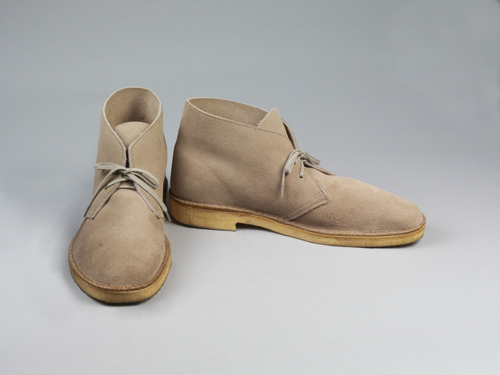 Clarks. Desert boots, light brown suede, 1994. © Victoria and Albert Museum, London.