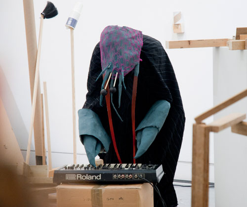 Edwina Ashton. <em>Peaceful serious creatures (lobster arranging)</em>, 2011. Performance, duration: three hours intermittently.