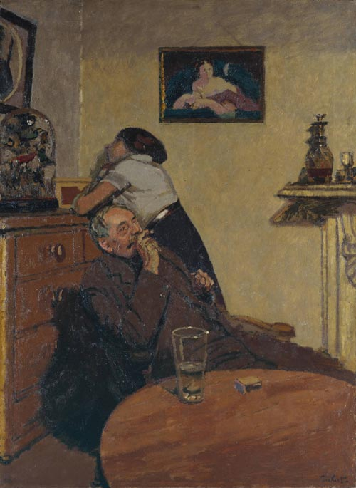 Walter Sickert (1860-1942). <em>Ennui</em>, c. 1914. Oil on canvas 152.4 x 112.4 cm. Tate. Presented by the Contemporary Art Society 1924. Copyright: Estate of Walter R Sickert. All rights Reserved DACS 2004