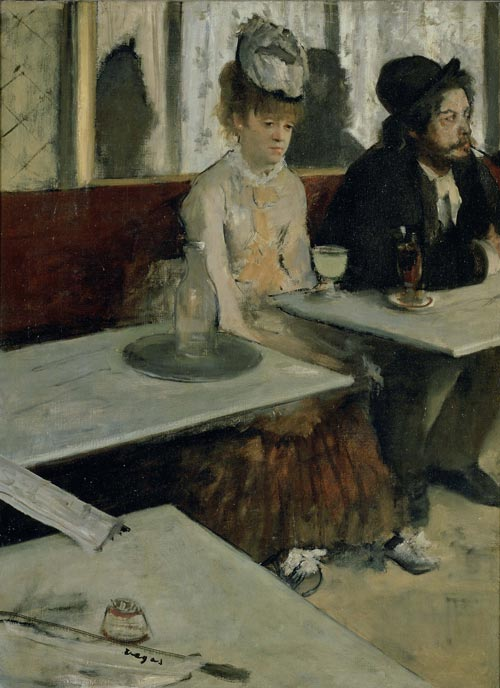 Edgar Degas (1834-1917). <em>L'Absinthe</em> 1875-76. Oil on canvas  920 x 680. Musée d'Orsay, Paris © photo RMN - H. Lewandowski