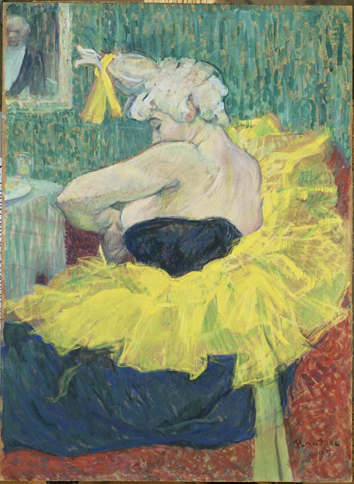Henri de Toulouse-Lautrec 1864-1901. <em>The Clowness Cha-U-Kao</em> 1895. Essence on cardboard. Musée d'Orsay, Paris. © photo RMN - H. Lewandowski