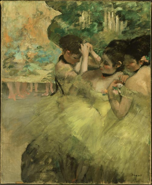 Edgar Degas (1834-1917)<em> Yellow Dancers</em> 1874-76. Oil on canvas © The Art Institute of Chicago