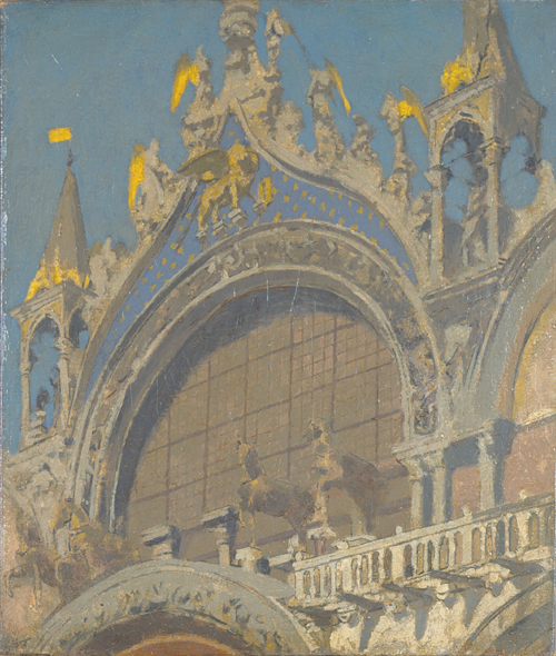 Walter Sickert. <em>The Horses of St Mark's</em>, c. 1905–6. 502 x 422 mm. Birmingham Museums and Art Gallery, presented by Edward Evershed, 1945, © Estate of Walter R. Sickert. All rights reserved, DACS 2008.