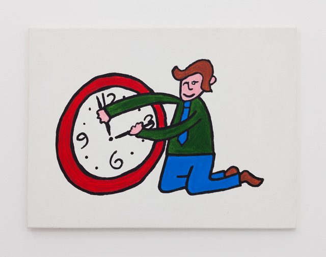 Richard Sides. Time hands, 2016. Acrylic on canvas, 59.5 x 80 x 2 cm.