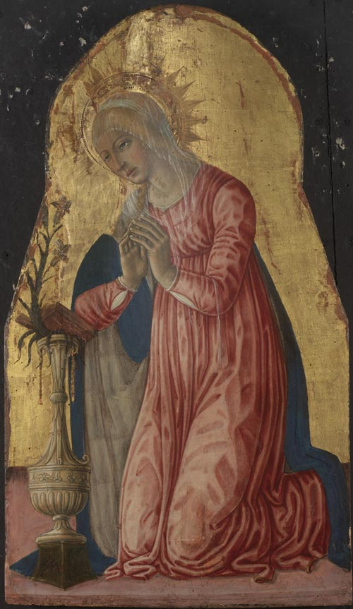 Matteo di Giovanni. <em>Virgin Annunciate</em>, 1474. &copy; 2007 Museum of Art, Rhode Island School of Design. Gift of Robert Lehman (57.301). Photo: Erik Gould