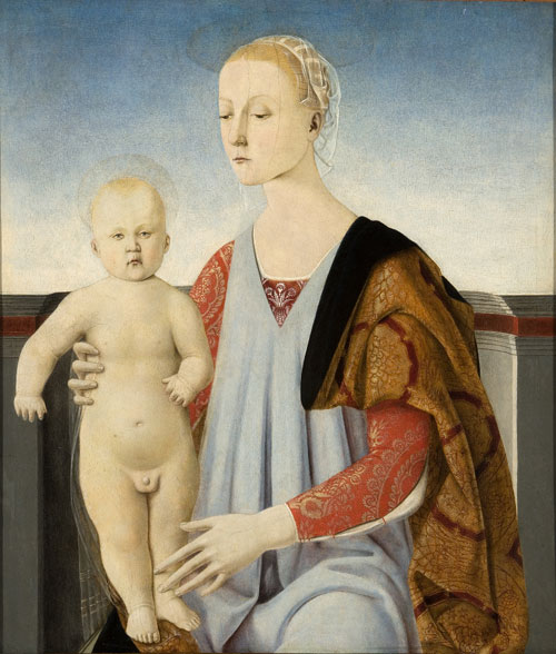 Luca Signorelli. <em>Madonna With Child</em>, 1465-75. Tempera on panel, 61.8 x 53.5 cm. Venezia, Fondazione Cini.