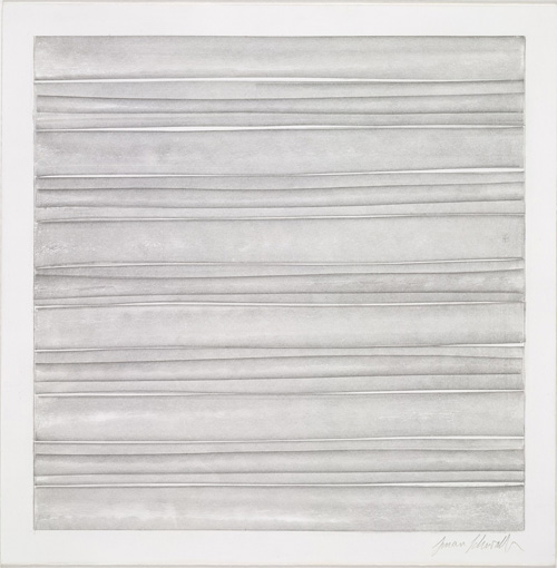 Susan Schwalb. Strata no. 407, 2005. Silverpoint, 229 x 227mm. © Reproduced by permission of the artist.