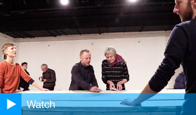 Siobhan Davies Dance: Table of Contents. A live installation at the ICA, London, January 2014.