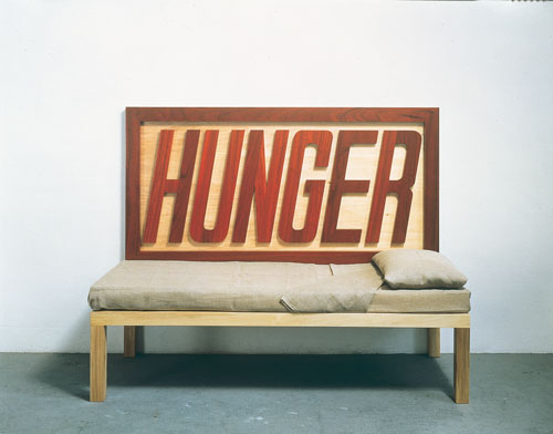Michelangelo Pistoletto. Hunger, 1988. Wood, foam rubber, canvas, 200 x 47 x 85 cm. Museum moderner kunst stiftung ludwig wien, on loan from the Austrian Ludwig Stiftung Foundation since 1995 / © Bildrecht, Vienna, 2015.