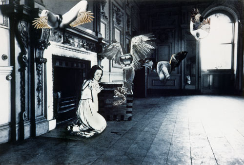 Penny Slinger. Vagina Dentata (An Exorcism), 1977. Photo collage, 20 x 13.5 in. Courtesy and copyright Penny Slinger.