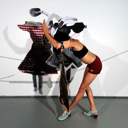 Sally Smart. Choreographing Collage #1 (Pedagogical Puppet series), 2012. Digital photograph, 65.5 x 65.5 cm, edition of 5 AP 2. 