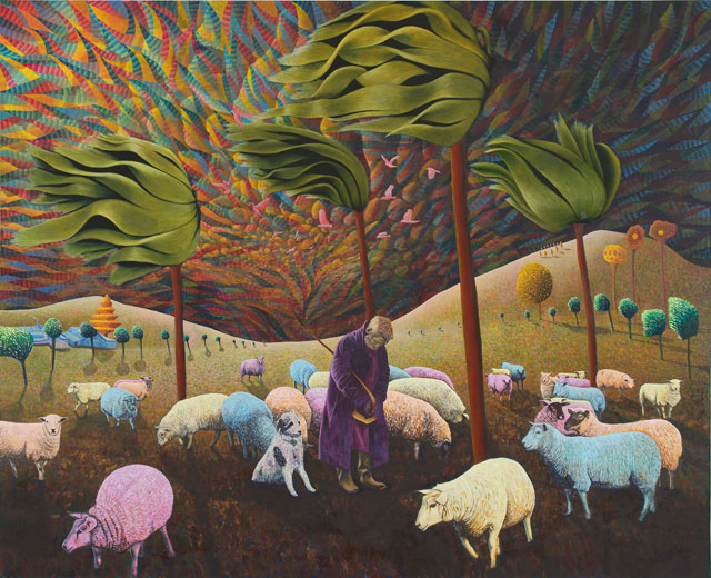 David Brian Smith. Great Expectations - A Windy Day, 2015. Oil on linen, 220 x 270 cm.